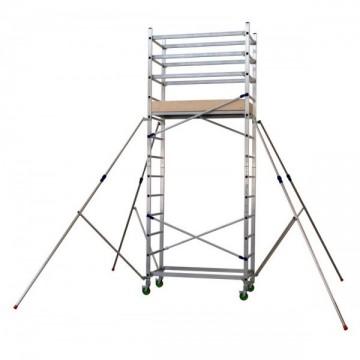 Trabattello alluminio altezza lavoro 4.80 Mt. Mod. Alto410