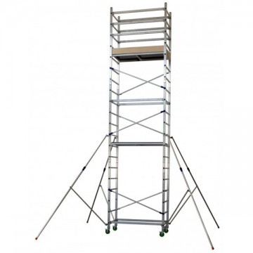 Trabattello alluminio altezza lavoro 7 Mt. Mod. Alto620