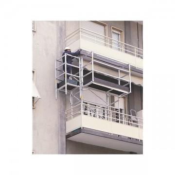Trabattello a balcone in alluminio da 3,00 mt.