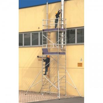 Trabattello alluminio Roller L modulo A+B+C+D Altezza L. 7.70 mt.